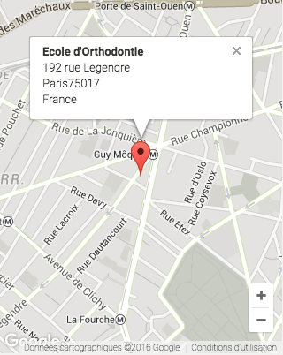 Google Map Ecole Orthodontie
